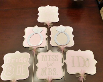 """A """"Glam bachelorette, lingerie, or bridal shower """" sign Centerpiece. Your choice of 2 Signs (glamping party,lingerie shower,bridal shower)"""
