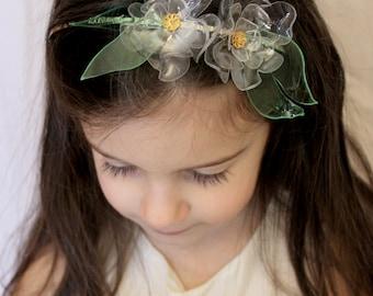 Clear Double Flower Headband