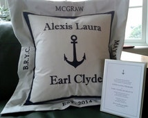Memorable Wedding Gifts For Bride And Groom : Popular items for wedding gift pillow on Etsy