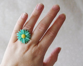 50% OFF Flower Ring Daisy Ring Flower Ring in your favourite Colour Bridesmaid Gifts Bridesmaid Ring Pin-Up Flower Ring Flower Girl