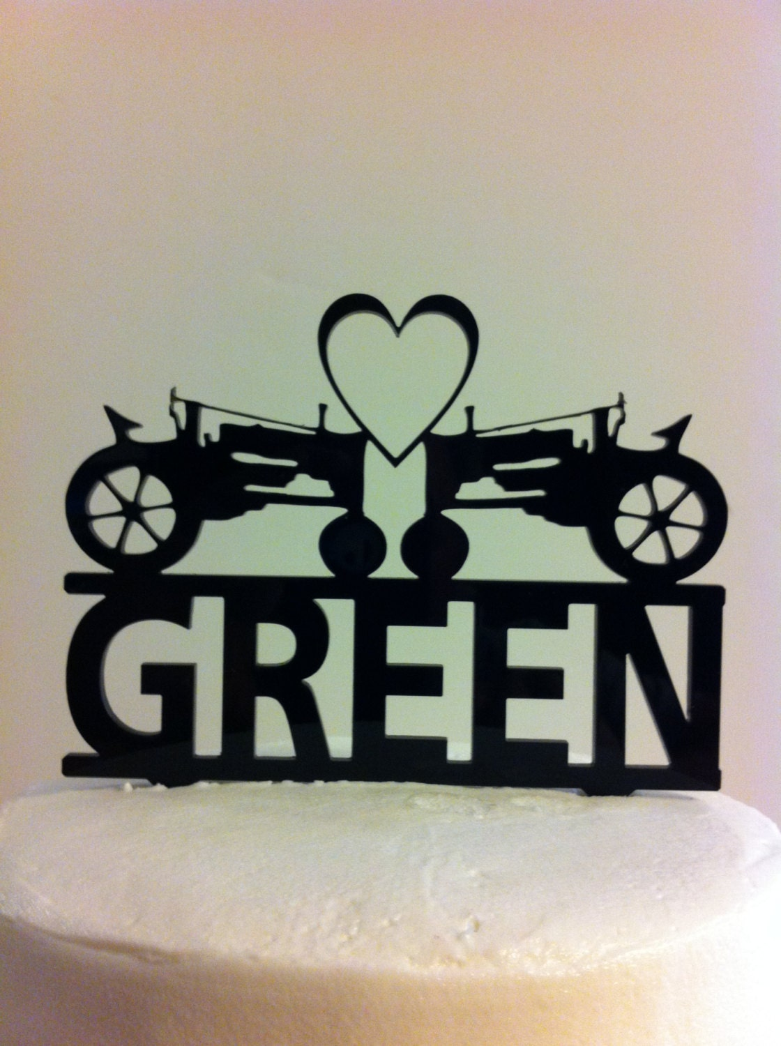 Farmers Tractor Heart Mr & Mrs Surname Personalized Acrylic