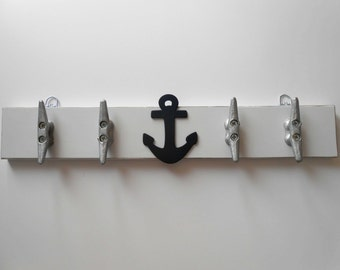 Coat Rack - Nautical Nursery - Lakehouse Decor - Beach Decor - Nursery Decor - Wall Rack - Bathroom Rack - Boat Cleats - Boat Cleat - Decor