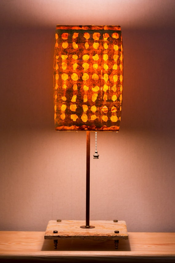 Items similar to orange art deco lamp natural lamp unique lamps handmade lamp craft lamp - Unique handmade lamps ...