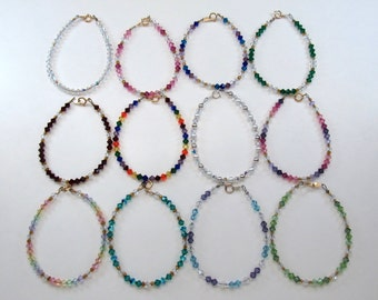 Swarovski Crystal Children's Bracelets, Birthday Gifts
