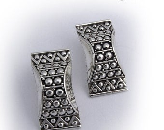 Vintage Hand Made Earrings Sterling Silver 925
