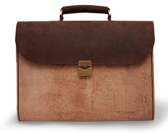 Handcrafted Leather Briefcase / Messenger / Laptop / Men's Bag in Brown