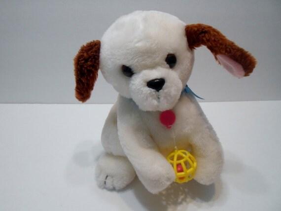Mechanical White Barking Dog Toy