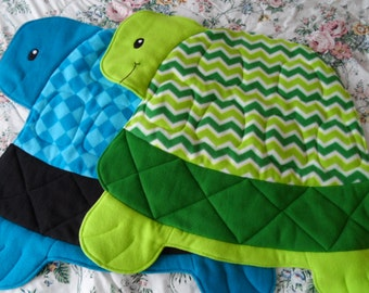 Fleece Turtle Quilted Blanket for Toddlers