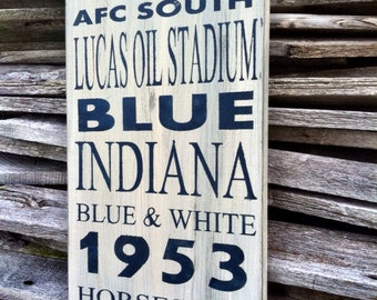 Football Decor /  Indianapolis Colts Football Sign /  Indianapolis Colts Sign /  Subway Art /  Indianapolis Colts Decor