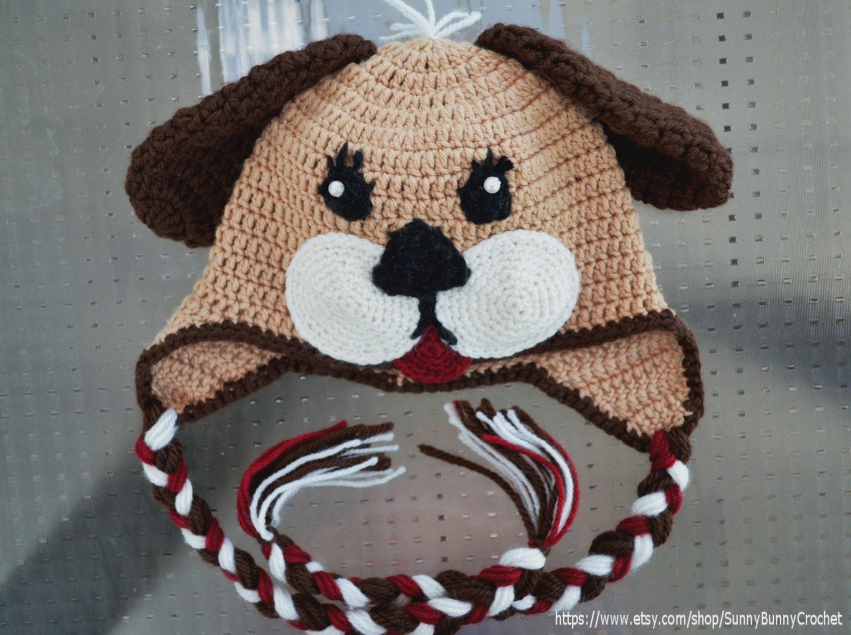 Crochet hat pattern crochet pattern child animal hat cat crochet hat pattern baby animal hat puppy hat pattern beanie and earflap pattern bankloansurffo Image collections