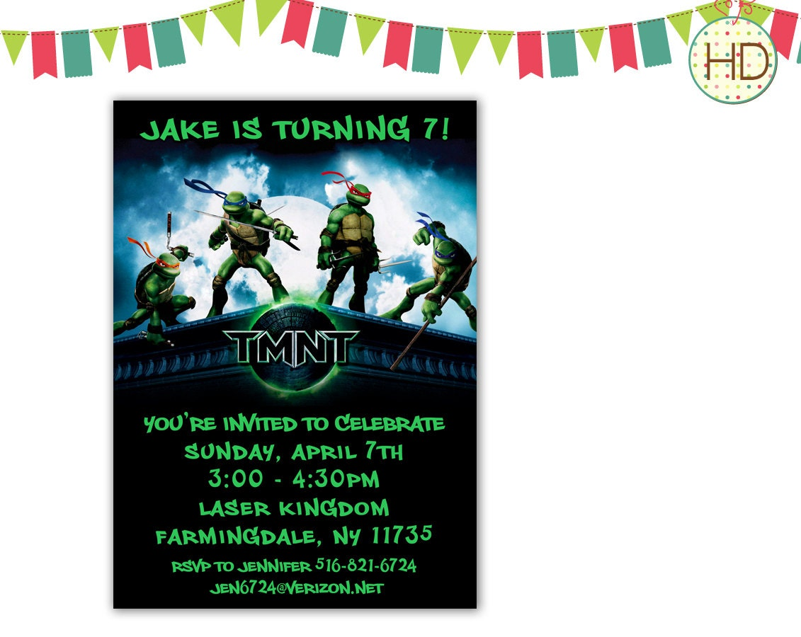 Ninja Turtles Birthday Invitation as good invitations design