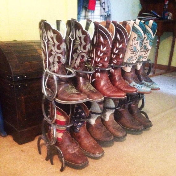 Rustic Horse Shoe Boot Rack By FabricationsByBruce On Etsy