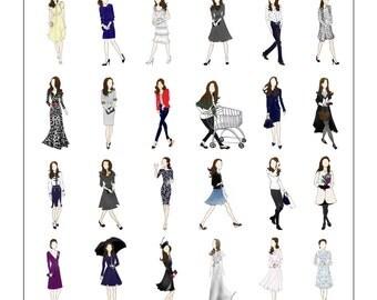 Kate Middleton, Duchess of Cambridge Fashion Poster II Digital Copy