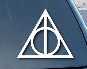 "Deathly Hallows symbol 18"" Vinyl Decal Window Sticker for Car, Truck, Motorcycle, Laptop, Ipad, Window, Wall, ETC"