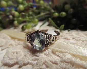 Sale - Sale -Vintage Blue Topaz Sterling Ring