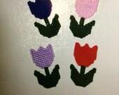 Tulip Magnets in Plastic Canvas
