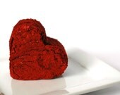 Red Velvet Brownies - Edible Gift - Edible Favor - Edible Wedding Favor - Bridal Shower Favor - Brownie Favor - Valentines Day Gift - Heart