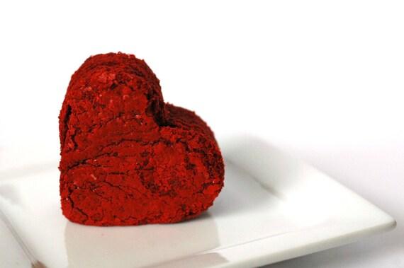 Red Velvet Brownies - Edible Gift - Edible Favor - Edible Wedding Favor - Bridal Shower Favor - Brownie Favor - Valentines Day Gift - Heart