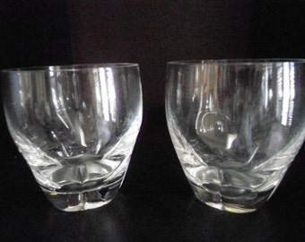 5 Lalique Crystal Old Fashioned glasses