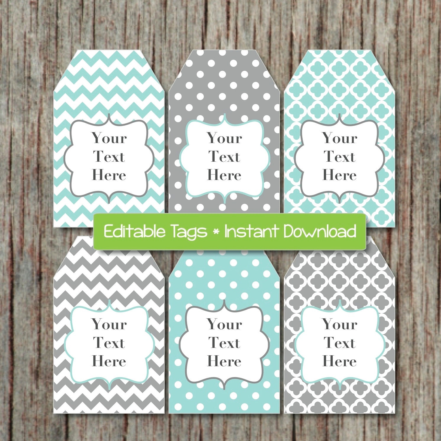 Editable gift tags printable labels digital collage editable for Printable baby shower favor tags