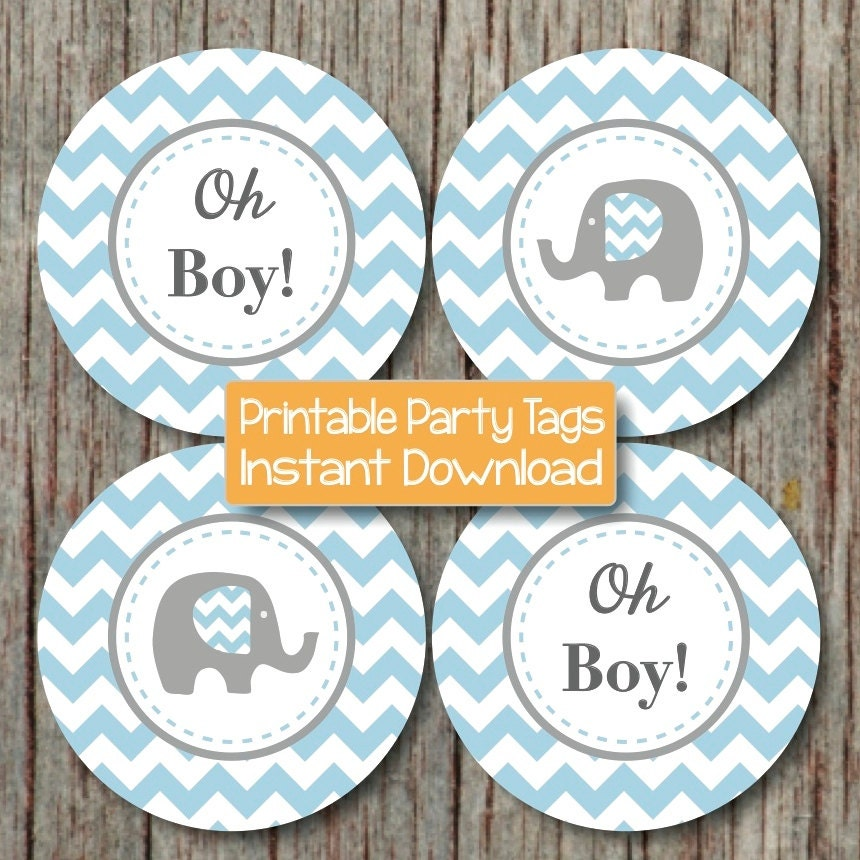 oh boy baby shower decorations elephant cupcake toppers baby