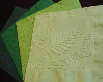 Leaf Embossed Paper Napkins in 24 Colours