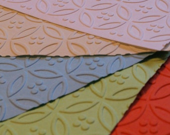 1 Dozen Circle and Dot Embossed Paper Napkins in 24 Colours