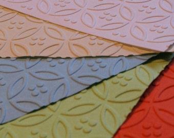 1 Dozen Circle & Dot Embossed Paper Dinner Napkins (12 7/8 x 12 7/8 in) in 24 Colours