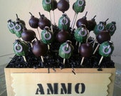 Grenade and Bomb Cake Pops 1 doz. (12)- Video Games Cake Pops - Army Birthday Party - Edible Party Favor