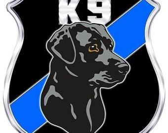 K-9 Shield Black Lab Decal - 4 in. Decal SKU: D1140