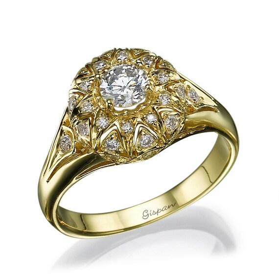 antique engagement ring vintage engagement ring unique