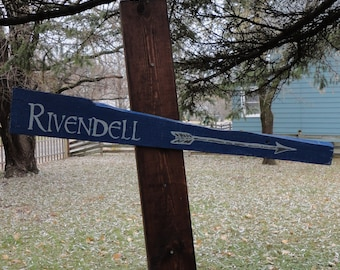 Rivendell Wooden Directional Sign - Made to Order