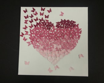 Sweetheart Butterflies Canvas