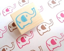 Elephant stamp, Baby shower stamp, Cute animal stamp, Gift idea, Japanese stamp, Kawaii, Rubber stamp