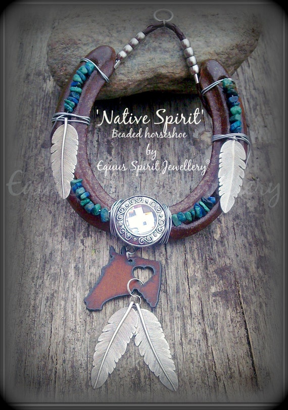 Native Spirit Semi Precious Beaded Horseshoe Good Fortune Home
