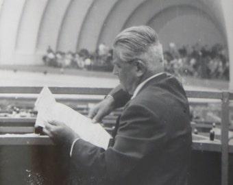 1950's Czech Composer Karel B Jirak Prepares for Performance Snapshot Photo - Free Shipping