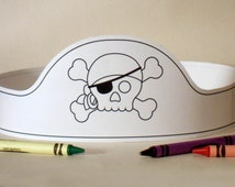 Pirate Paper Crown COLOR YOUR OWN - Printable