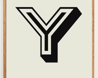 Mid-Century Modern Letter Y