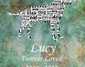 PERSONALIZED Pet Memorial Labrador Retriever Dog Memorials 8 X 10 Print Labrador Retriever