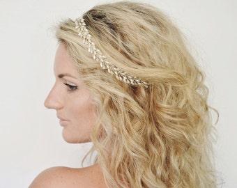 Grecian Bridal Hair Piece, Bridal Headband, Wedding Headband, Wedding Hair Vine, Bridal Headpiece, Wedding Hair Piece, Bridal Hair Vine