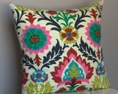Waverly Santa Maria Desert Flower decorative pillow cover (colorful ethnic floral pattern) - 18x18, 20x20, 22x22 - StuckOnHue
