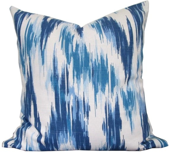 Designer Decorative Pillow Cover-Blue and White