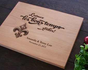 Custom Cutting Board as Hostess Gift Housewarming Present French New Orleans Chopping Board wedding gift