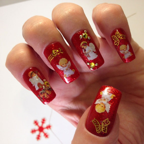 Christmas Angels Christmas 3D Nail Art Christmas By My3Dnails