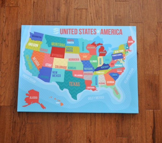 Us Map Canvas - Us map canvas