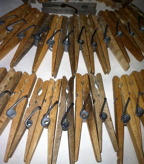 vintage wooden clothes pins
