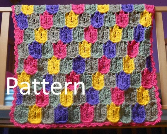 Items similar to Crochet Pattern-Crochet Flower Tulip ...