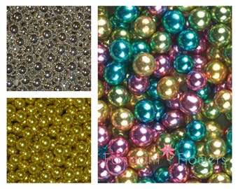 Dragee's Silver Gold Assorted Sugar Bead Balls for decorating your cupcakes, cookies and Cakes