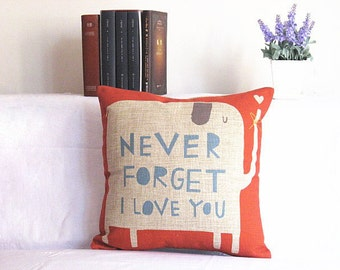 Linen Pillow word print Pillow cover Cushion cover  pillow cover Home Decor Throw pillow Decorative pillow throw pillow
