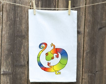 Kitchen Towel-Tea-Dish-Flour Sack-Reptile-Lizard-Hand-Kitchen-Gecko